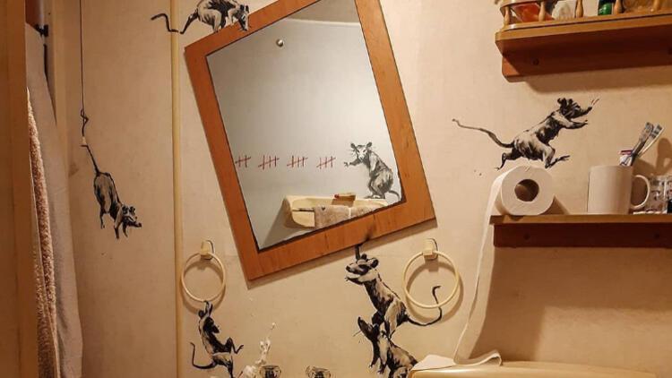 Banksy karantinada! Sosyal medyadan paylaştı: Evden çalıştığım zaman eşim bundan nefret ediyor