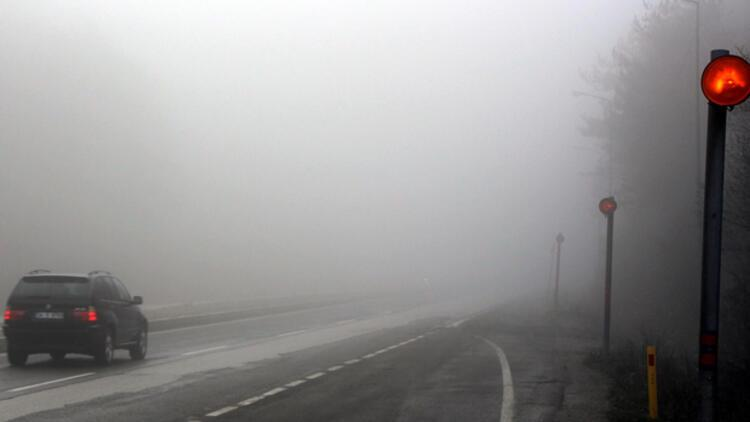 Bolu Dağında yoğun sis etkili oluyor
