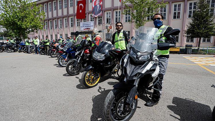 Motosikletli 'Vefa Sosyal Destek' gönüllüleri işbaşı yaptı