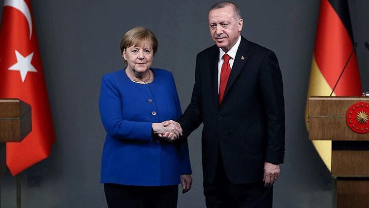Son dakika haberler: Cumhurbaşkanı Erdoğan ile Merkel'den önemli görüşme