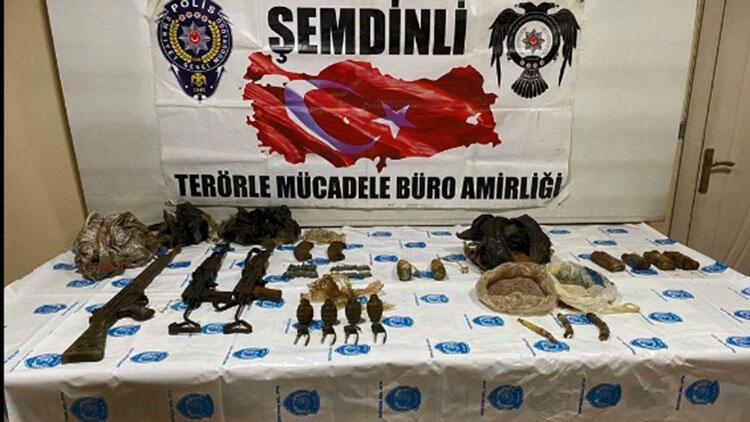 Şemdinli'de PKK'ya ait silah ve mühimmat ele geçirildi