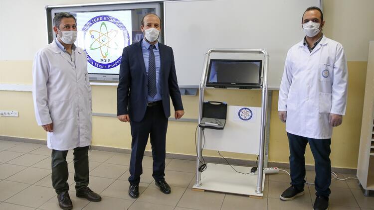 Meslek lisesinde üretilen 'video laringoskop' cihazı tanıtıldı