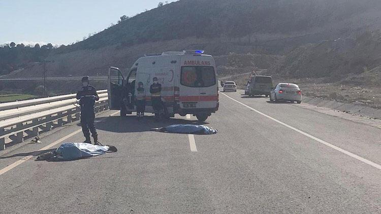 Kütahya'da motosiklet kazası: 2 kişi hayatını kaybetti