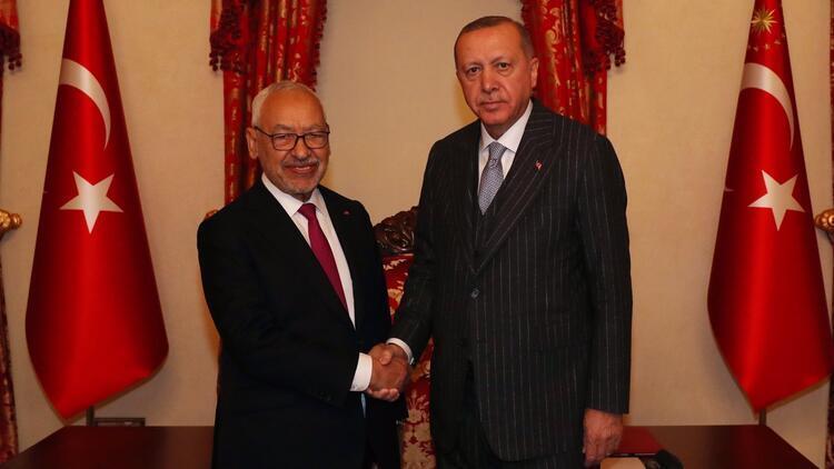 Cumhurbaşkanı Erdoğan, Tunus Meclis Başkanı El-Gannuşi ile görüştü