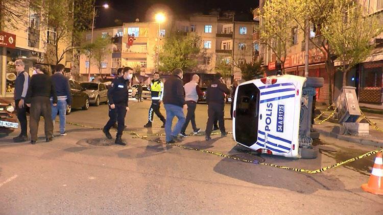 İstanbul'da feci kaza! 2 polis yaralı