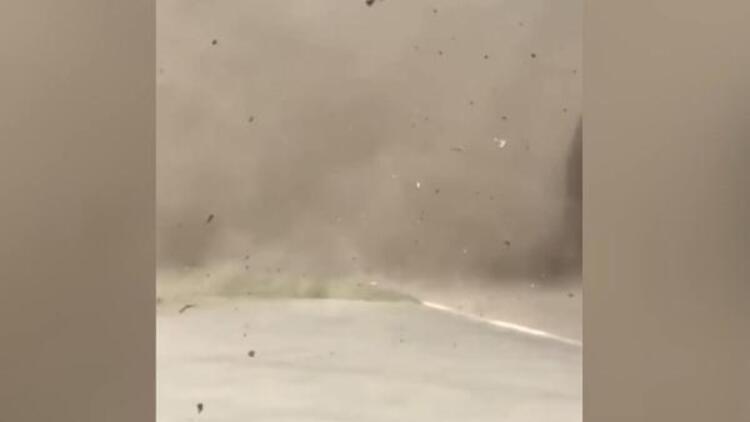 Ukrayna'da bir kenti toz fırtınası vurdu