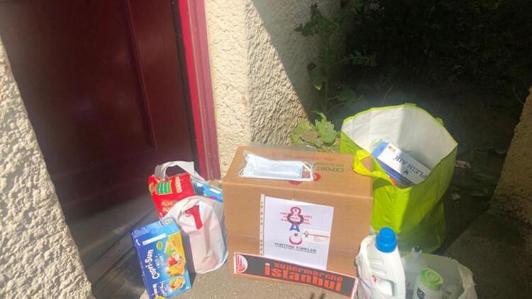 YTB'nin desteğiyle Fransa'da ihtiyaç sahibi ailelere yardım