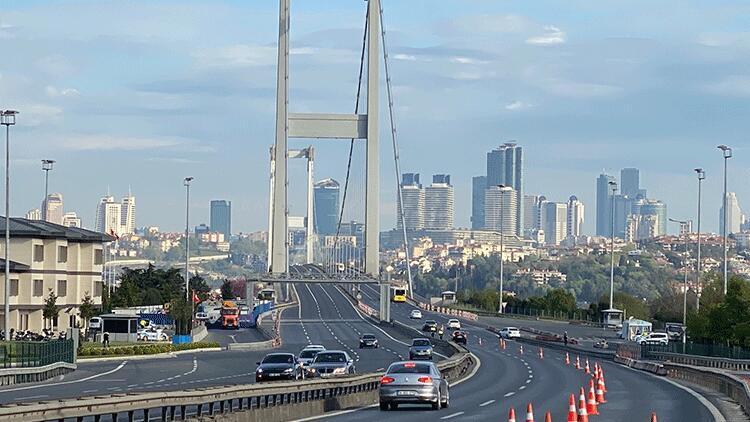15 Temmuz Şehitler Köprüsü'nde denetimler sürüyor