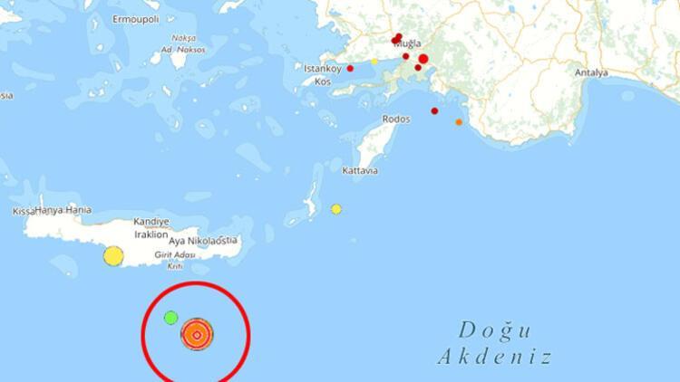 Son dakika... Akdeniz'de peş peşe depremler...