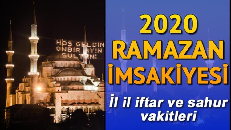 2020 Ramazan İmsakiyesi: İftara ne kadar kaldı? İstanbul, Ankara, İzmir ve tüm illerimizin iftar ve sahur saatleri
