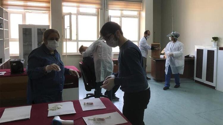 Elazığspor'da koronavirüs testi yapıldı