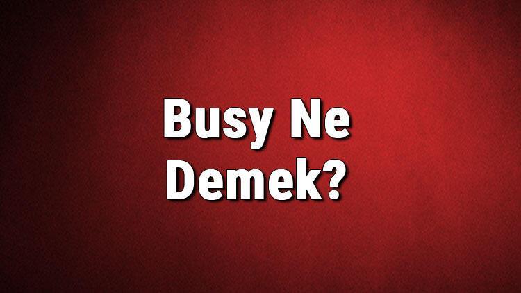 Busy Ne Demek? Busy Kelimesinin Türkçe Anlamı Nedir?