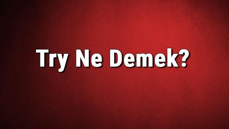 Try Ne Demek? Try Kelimesinin Türkçe Anlamı Nedir?