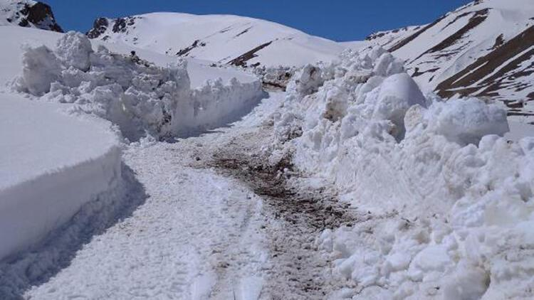 Başkale'de mayısta karla mücadele