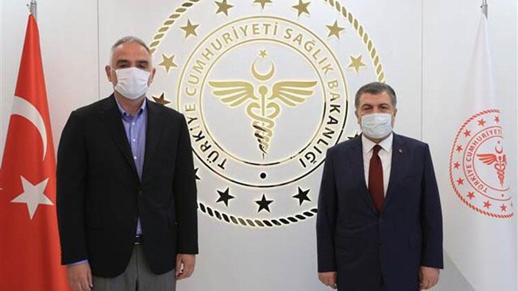 Kültür ve Turizm Bakanı Ersoy, Sağlık Bakanı Koca'yı ziyaret etti
