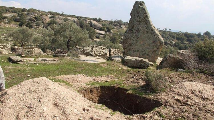 Gerga Antik Kenti'nde define kazılarına tepki