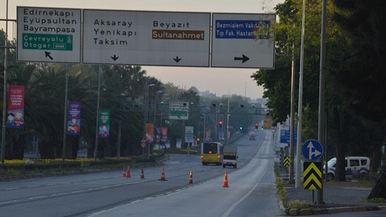 4 günlük corona virüs kısıtlamasının ilk gününde İstanbul