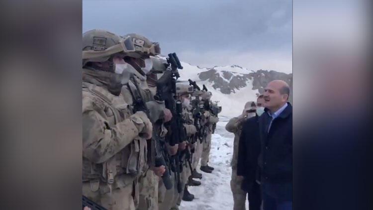 İçişleri Bakanı Soylu, İkiyaka Dağları'nda üs bölgesinin açılışını yaptı