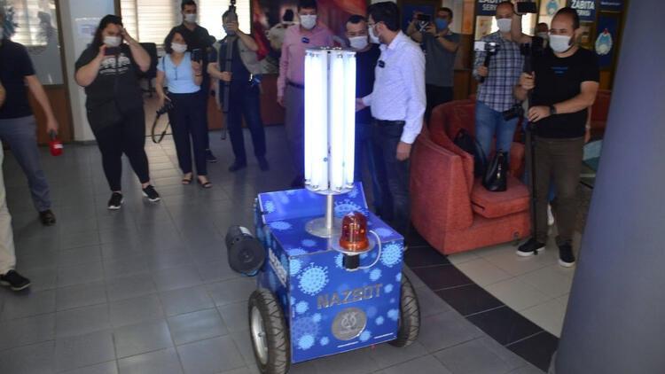 Koronavirüse karşı Aydın'da yerli robot geliştirildi