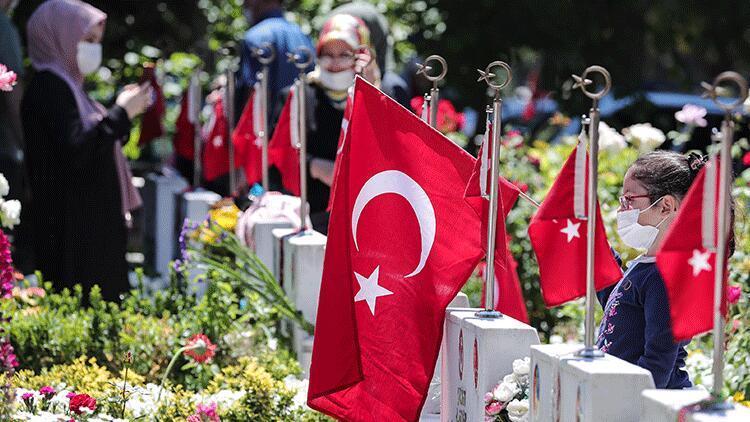Edirnekapı Şehitliği'nde bayram ziyareti