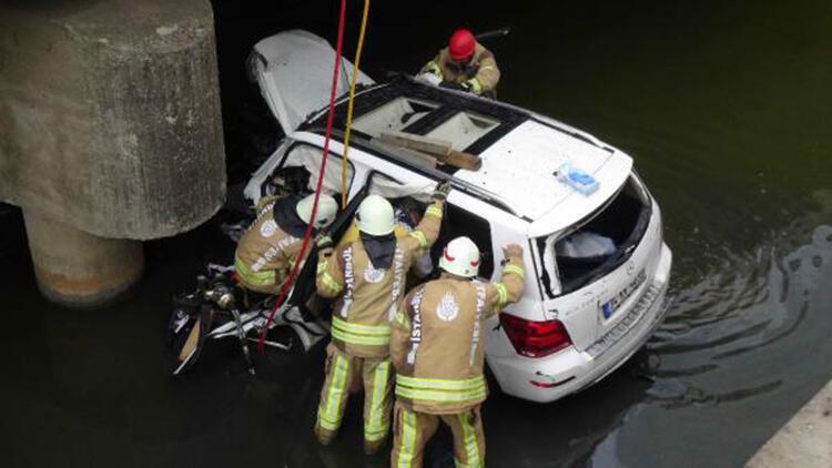 Silivri'de dereye düşen otomobilin sürücüsü hayatını kaybetti