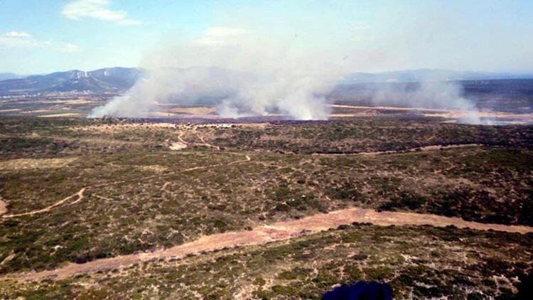 Aydın'da, 5 saatlik yangında 45 hektar makilik kül oldu