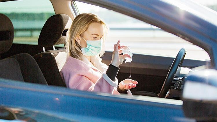Arabalardaki dezenfektana dikkat