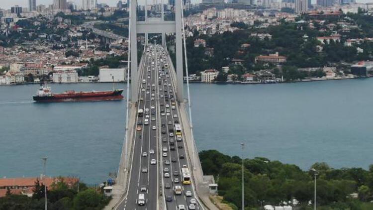 Kısıtlama sonrası 15 Temmuz Şehitler Köprüsü