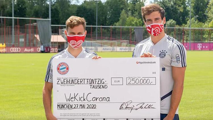 Bayern Münih, maske satışından elde ettiği 250 bin avroyu bağışladı