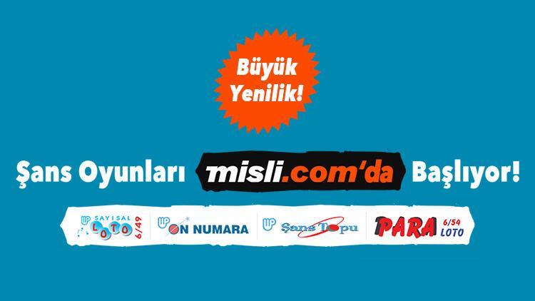 """Milli Piyango'nun şans oyunları, Misli.com'la """"çok yakında"""" evinize geliyor!"""