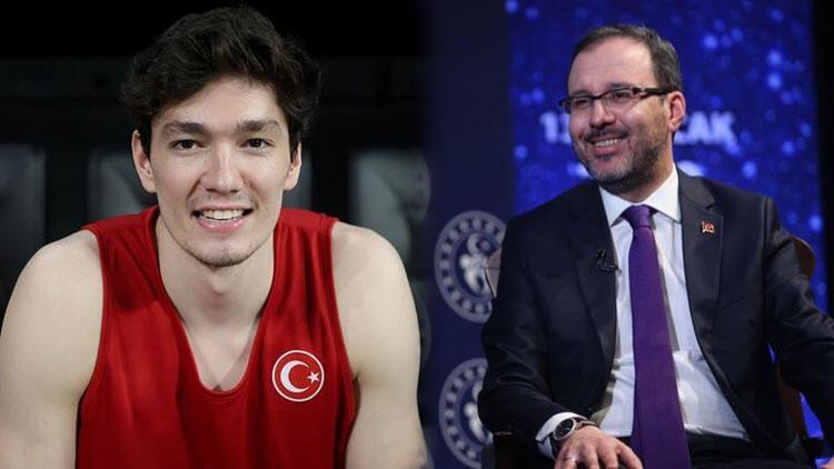 Gençlik ve Spor Bakanı Mehmet Muharrem Kasapoğlu, Cedi Osman'a konuştu: En başarılı olimpiyat oyunlarına adayız