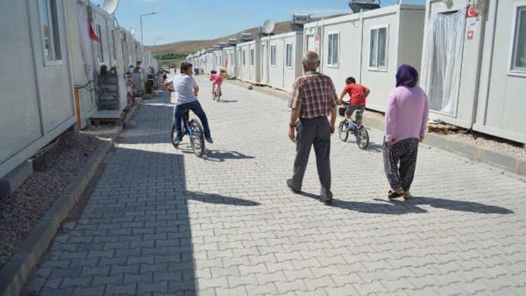 Elazığ'da konteyner kentlerde hayat normale dönmeye başladı