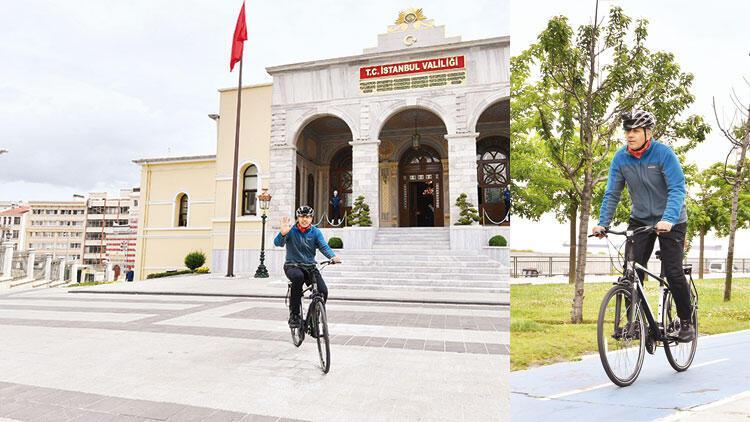 Dünya Bisiklet Günü'nde validen pedala kuvvet