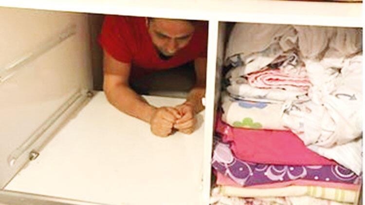 Çamaşır dolabında FETÖ şüphelisi