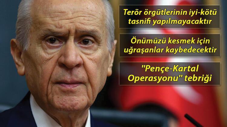 Son dakika haberler: Bahçeli'den TSK'ya ''Pençe-Kartal Operasyonu'' tebriği