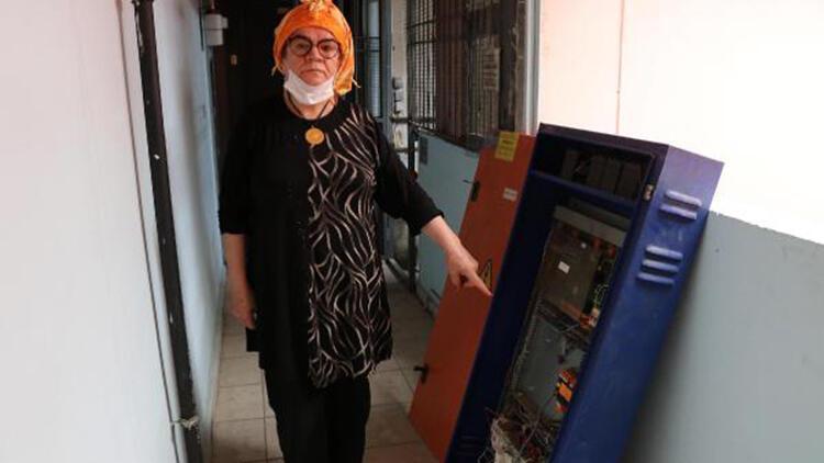 'Hanımağa'nın yönetici olduğu binada asansörün ana kart ve motor sürücüleri çalındı