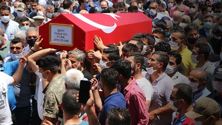 Şehit Teğmen Yunus Gül, son yolculuğuna uğurlandı