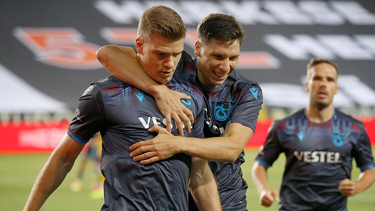 Trabzonspor'da Alexander Sörloth 6 maç sonra gol attı!