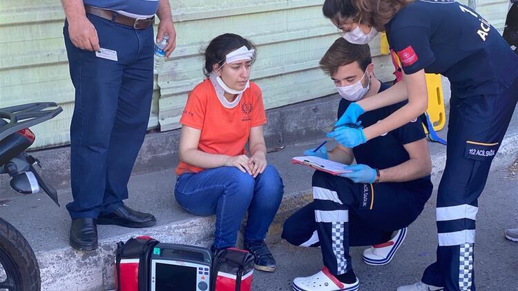Kazada yaralandı, hastaneye değil sınava gitti