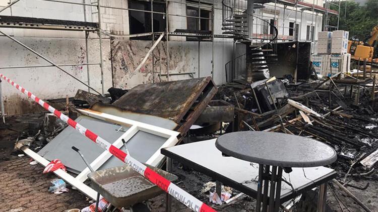 DİTİB camisinin şantiye bölümü yandı