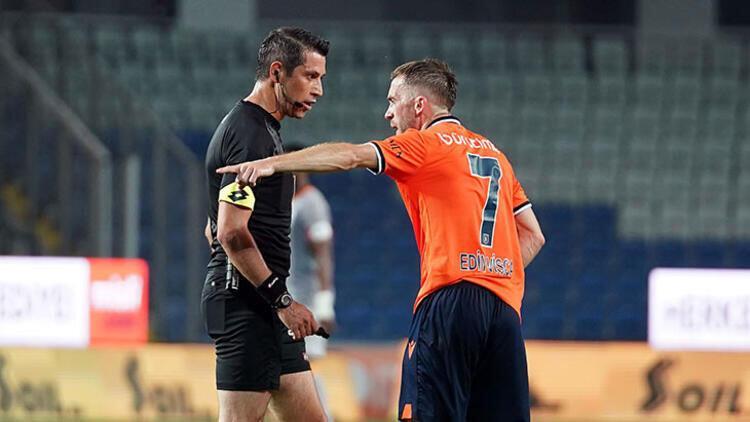 Son Dakika   Başakşehir-Galatasaray maçında Edin Visca kırmızı kart gördü!