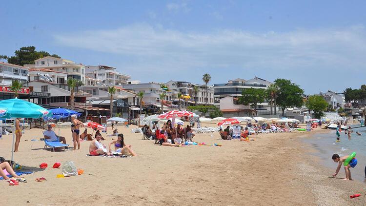 Altınkum Plajı'nda güzel hava keyfi