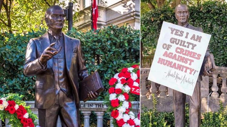 Son dakika haberi: Atatürk heykeline çirkin saldırı gerçekleştirilmişti! Dışişleri Bakanlığı'ndan açıklama geldi