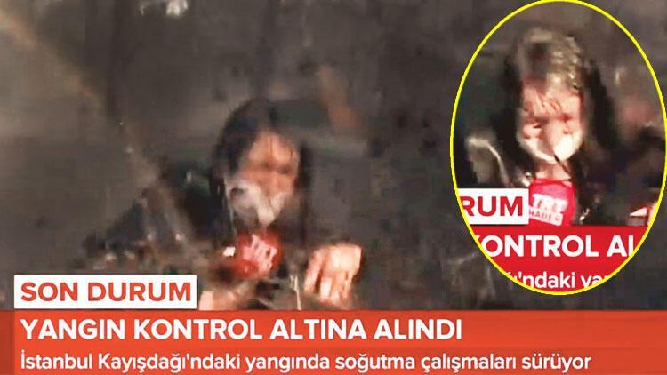 TRT muhabirinin zor anları; tonlarca suyun altında kaldılar