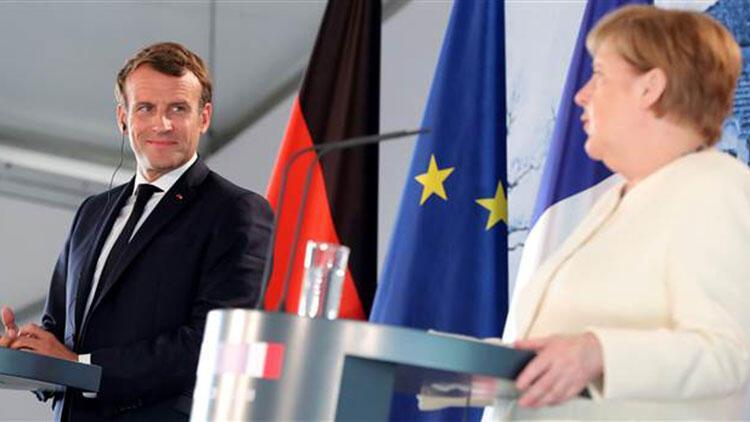 Angela Merkel ile Emmanuel Macron'un ortak basın toplantısında dikkat çeken açıklamalar