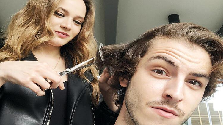 Miray Daner, Boran Kuzum'un saçlarını kesti