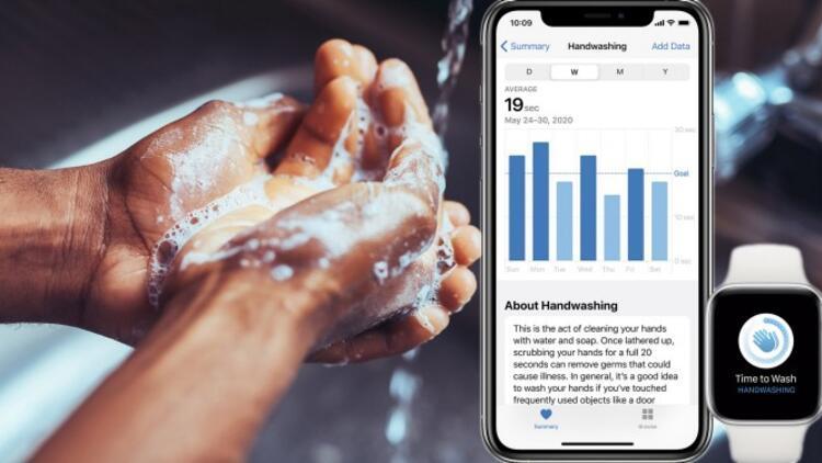 Apple Watch, elinizi yıkarken 20 saniyeden geriye sayacak