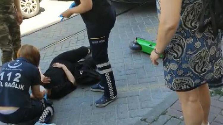 """Kadıköy'de """"Martı""""dan düşen kadın yaralandı"""