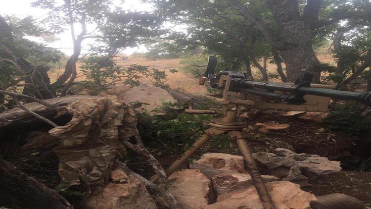 MSB Pençe-Kaplan operasyonunda ele geçirilen silah ve mühimmatların fotoğraflarını paylaştı