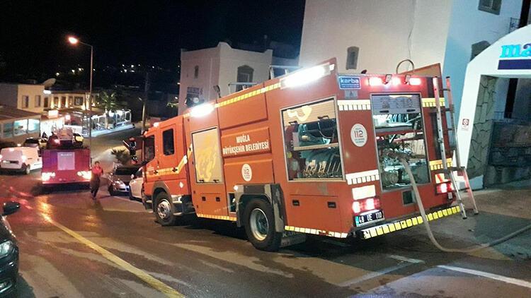 Bodrum'da, otel odasında çıkan yangın söndürüldü